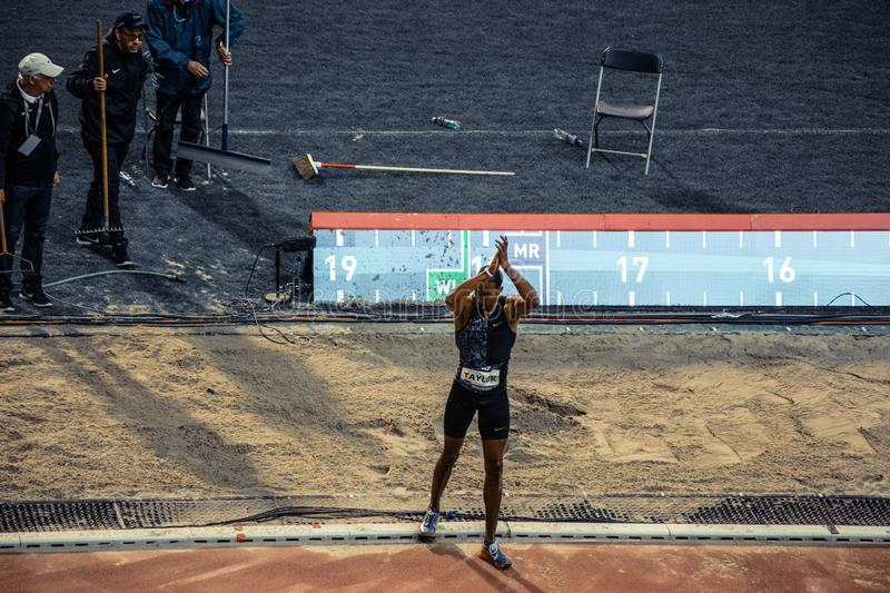 Diamond league, athletic competitions. royalty free stock photo