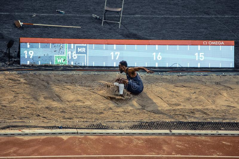 Diamond league, athletic competitions. stock images