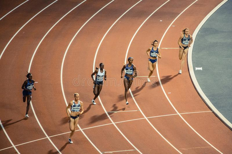 Diamond league, athletic competitions. stock photos