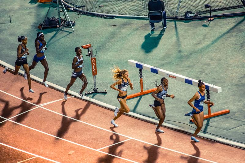 Diamond league, athletic competitions. royalty free stock images