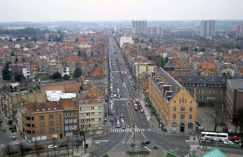Bruxelles da sopra fotografia stock