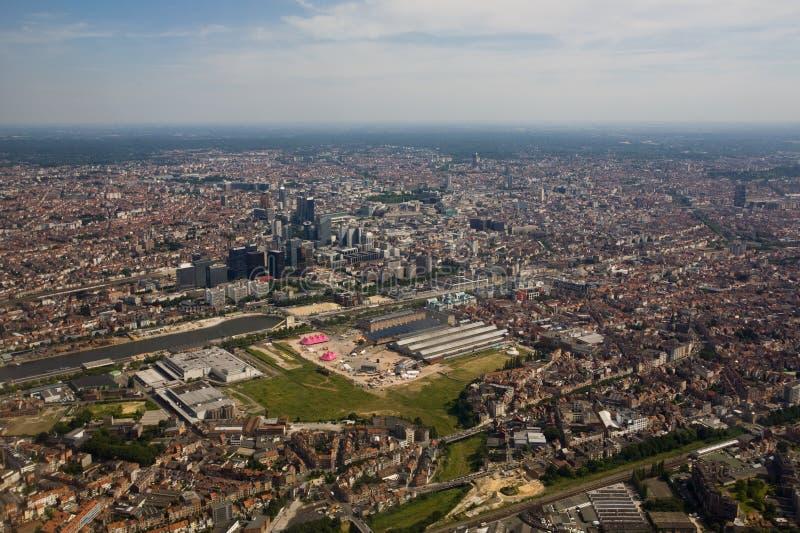 Bruxelles da sopra immagine stock libera da diritti
