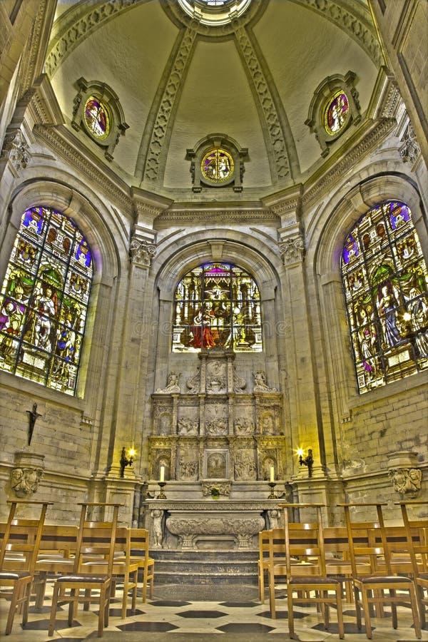Bruxelles - la Maes-chapelle dans la cathédrale gothique de St Michael et de saint Gudula photo stock