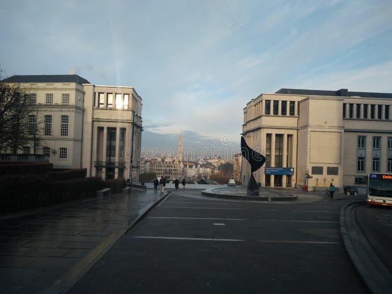 Bruxelles - mont des sztuki zdjęcia royalty free