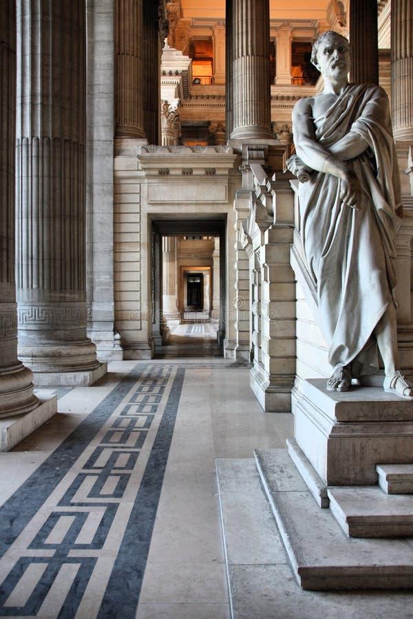 Bruxelles palais de justice image stock image du belge for Prix de la construction belgique