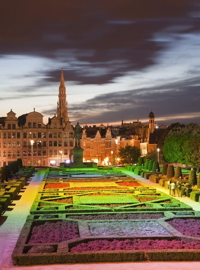 Bruxelles - prospettiva dalle arti del DES di Monts fotografie stock libere da diritti
