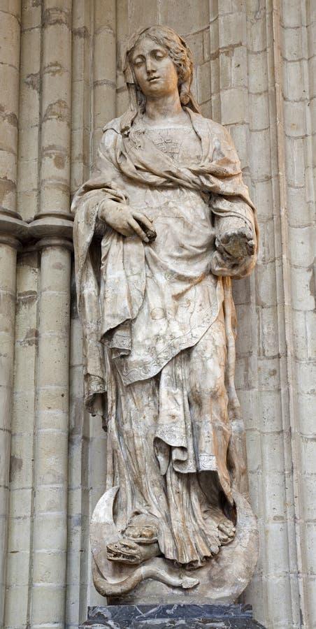 Bruxelles - Virgin Mary dal san Michael immagini stock libere da diritti