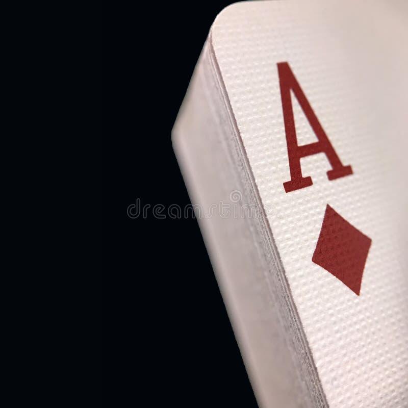 Bryła Brogujący pokład karty do gry Ustawiać Przeciw Czarnemu tłu obraz stock