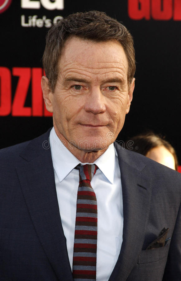 Bryan Cranston. At the Los Angeles premiere of Godzilla held at the Dolby Theatre in Los Angeles on May 8, 2014 in Los Angeles, California royalty free stock image