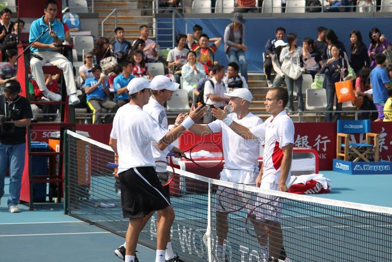 Bryan) (dos EUA/Bryan (EUA) contra Soares (SUTIÃ) /Ullyett (Z imagem de stock