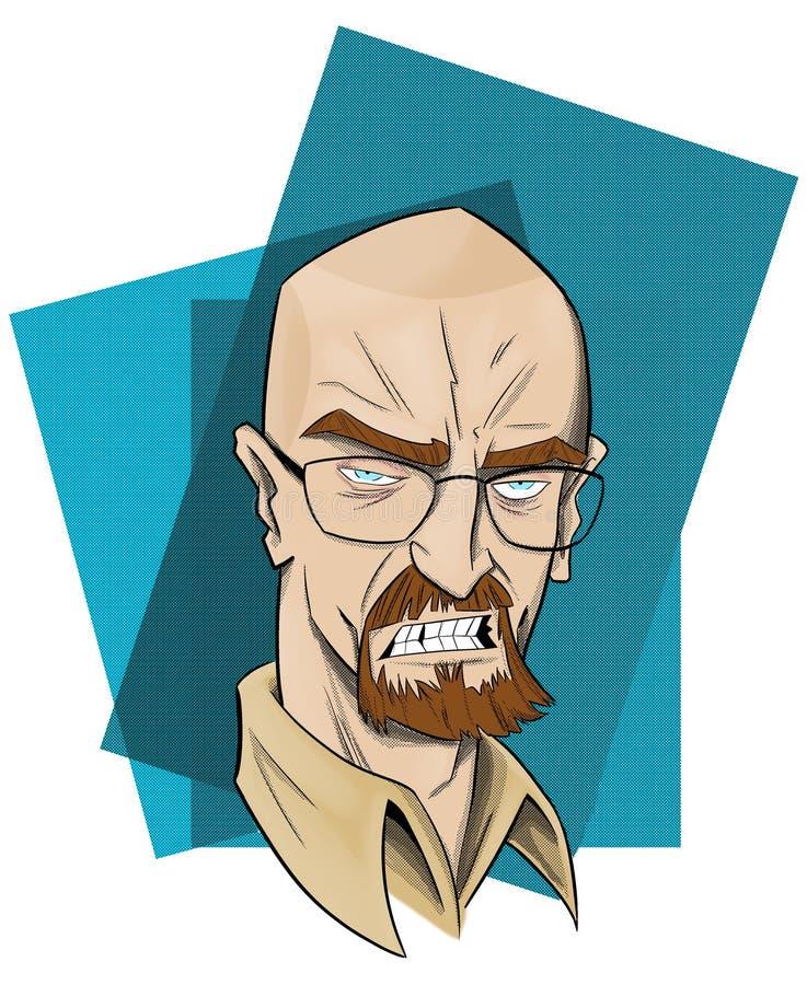 Bryan Lee Cranston skådespelare stock illustrationer