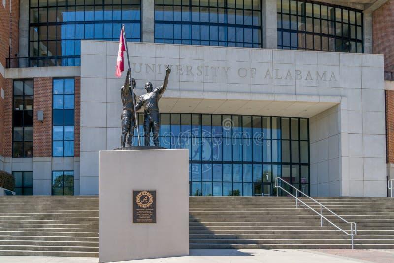 Bryant-Denny Stadium at University of Alabama. TUSCALOOSA, AL/USA - JUNE 6, 2018: Bryant-Denny Stadium on the campus of University of Alabama stock image