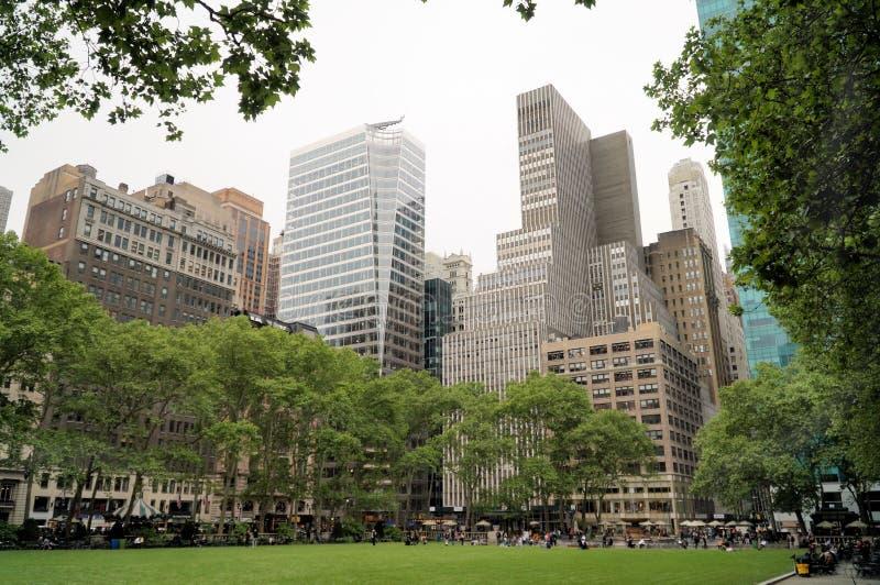 Bryant Park à New York City images libres de droits