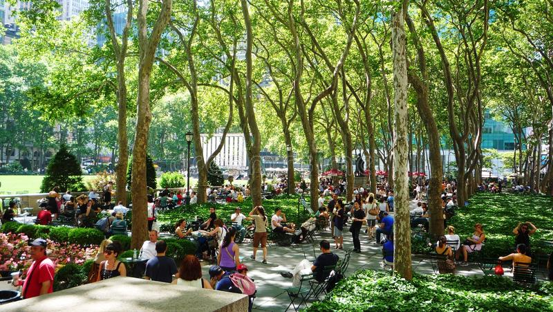 Bryant Park. A view of Bryant Park in New York royalty free stock images