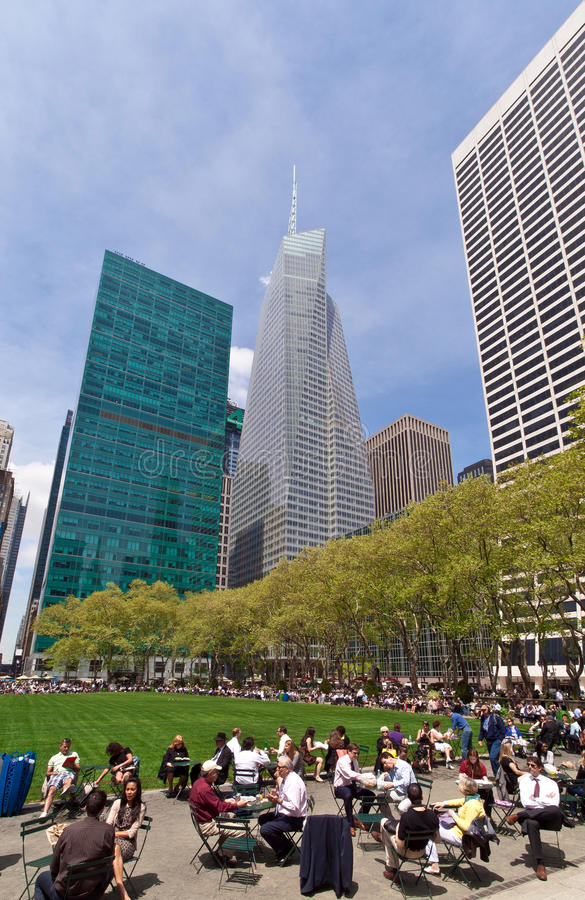 Bryant Park and buildings, New York City