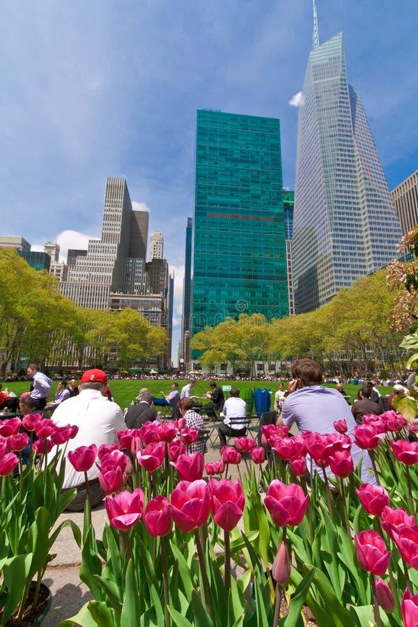 Bryant Park et bâtiments, New York City photographie stock libre de droits