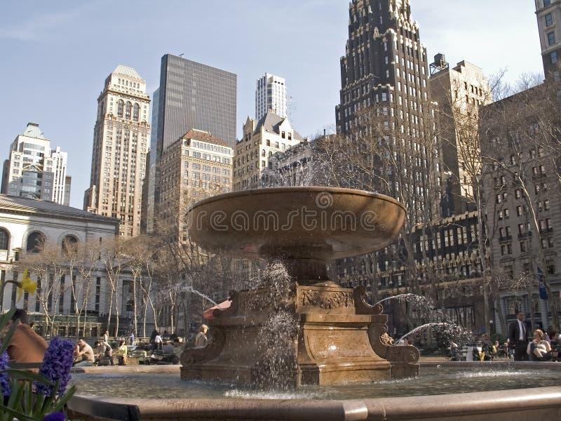 Bryant Park Fountain stock photos