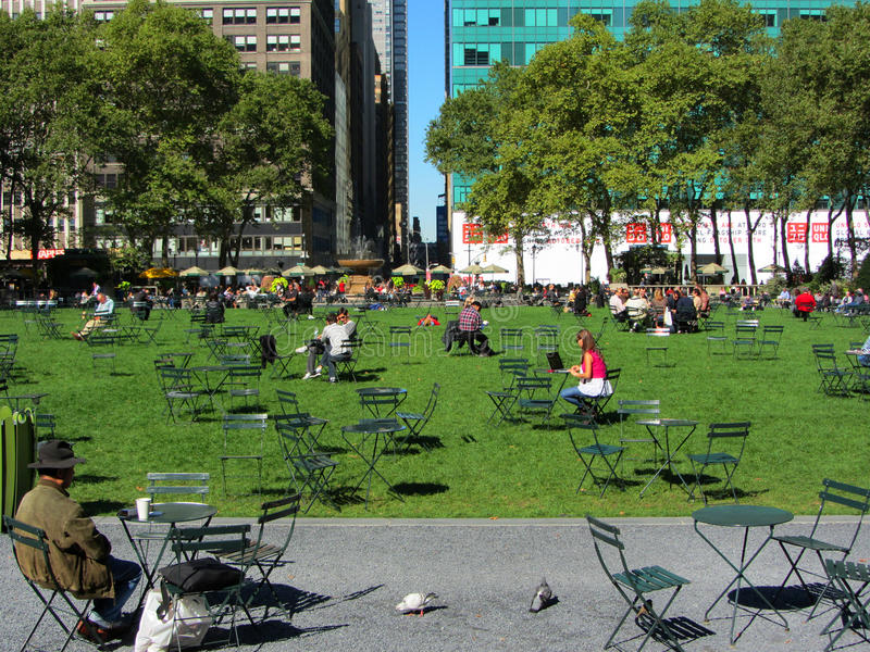 Bryant Park, Manhattan, New York City image stock