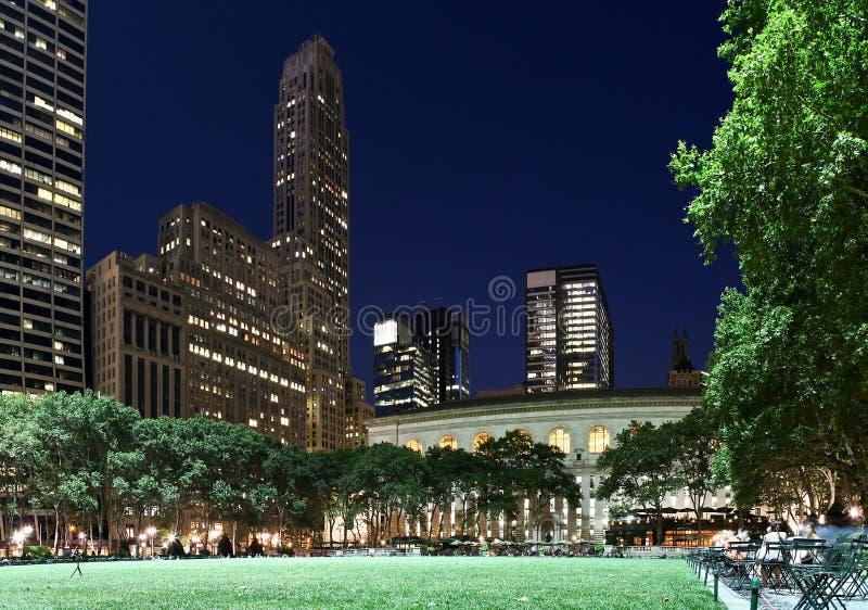 Bryant Park at night. Night shot of Bryant Park, New York City royalty free stock photos