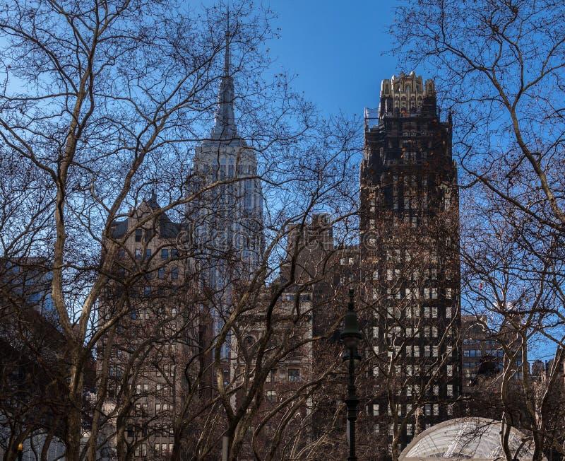 Bryant Park Path New York-Stad royalty-vrije stock foto's