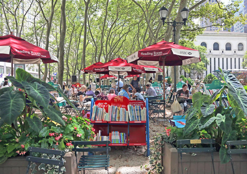 Bryant Park Reading Room images stock