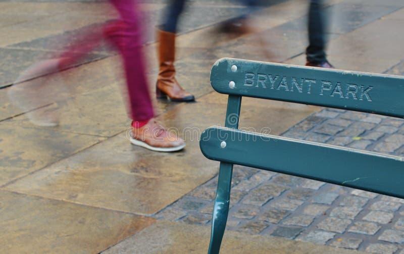 Bryant Park Sign City Public gare des rues du voyage de touristes NYC images libres de droits
