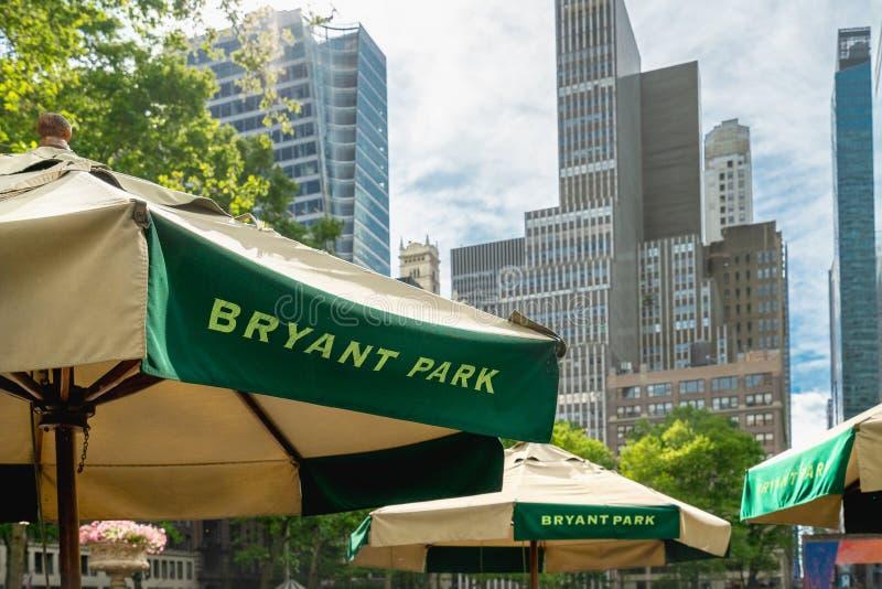Bryant Park, tambi?n conocido como plaza de Manhattan, New York City fotos de archivo