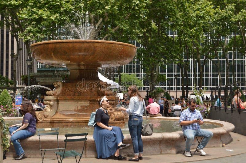 Bryant Park Water Fountain photos stock
