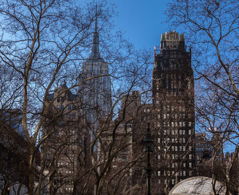 Bryant parka ścieżka Miasto Nowy Jork zdjęcia royalty free