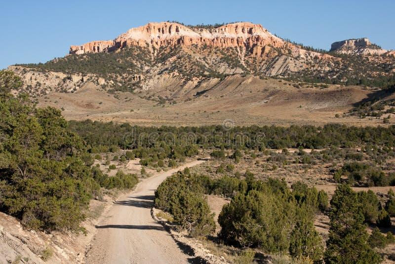 bryce峡谷乡下公路 免版税库存照片