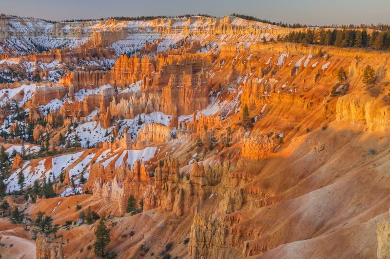 bryce峡谷冬天 库存照片