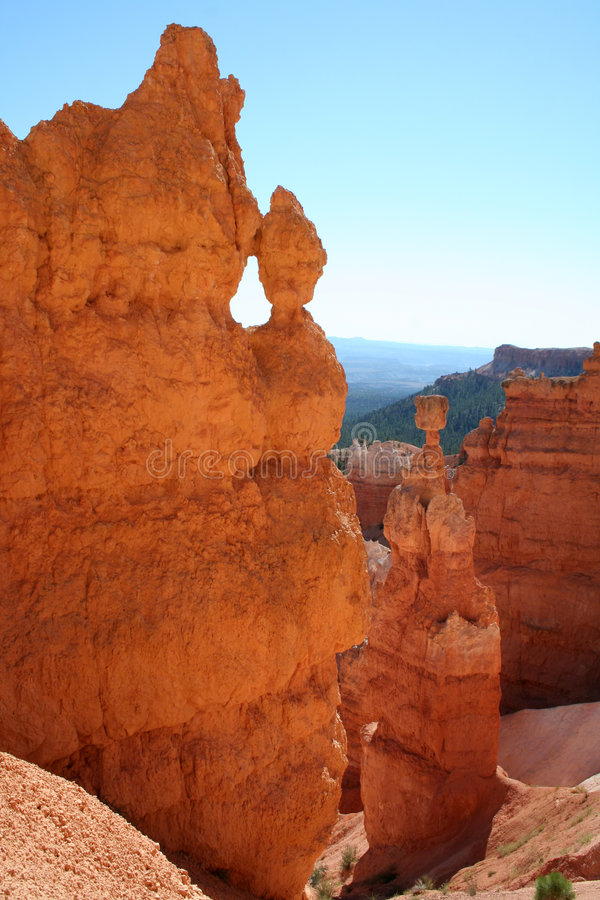 bryce峡谷国家公园风景 免版税库存照片