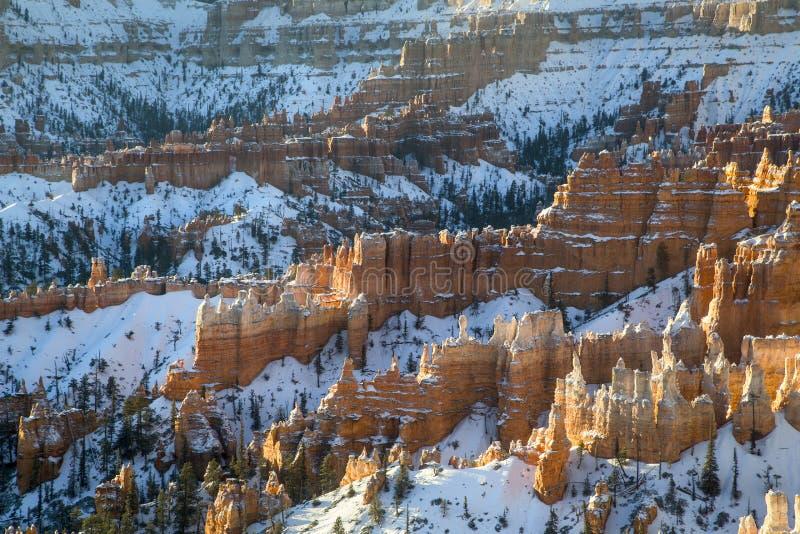 Bryce Canon Winter Sunrise stock image