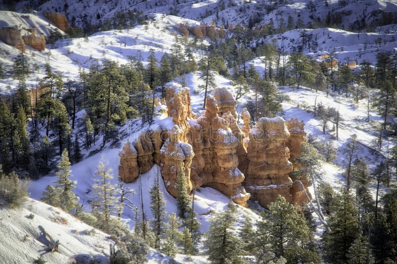 Bryce Canon Winter Sunrise royalty free stock images