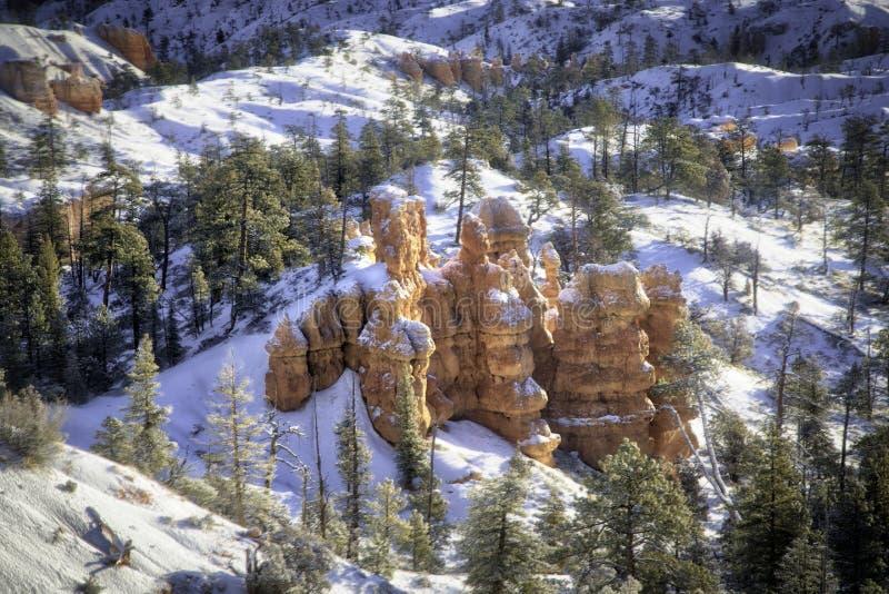 Bryce Canon Winter Sunrise immagini stock libere da diritti