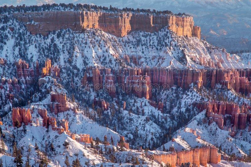 Bryce Canon Winter Sunrise imagen de archivo