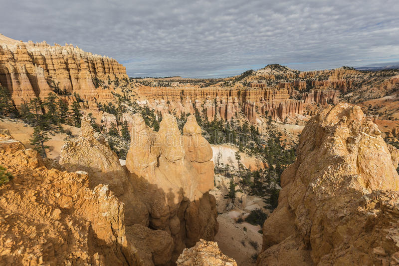 Bryce Canyon Afternoon Hoodoo View in Zuidelijk Utah royalty-vrije stock foto's