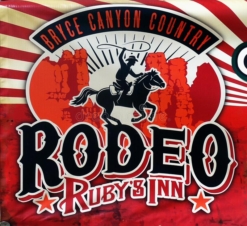 Bryce Canyon Country, mesón de Rubys del rodeo stock de ilustración