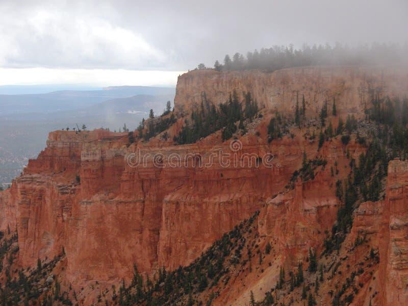 bryce canyon deszcz zdjęcia stock