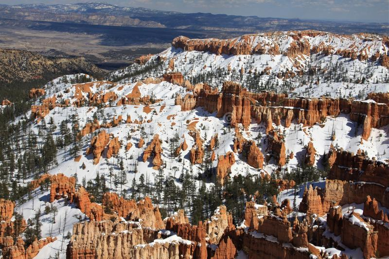 Bryce Canyon Distant Winter Overlook photo libre de droits
