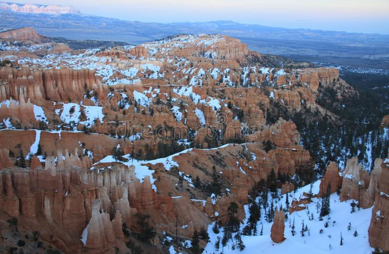 Bryce Canyon Evening Overlook fotografia stock libera da diritti