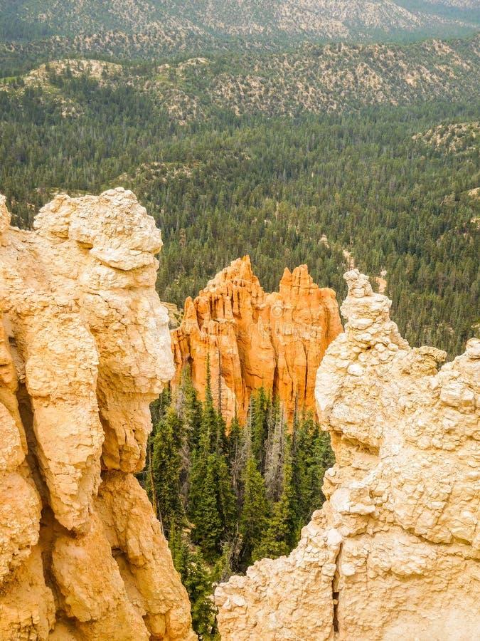 Bryce Canyon-Felsenskulpturen stockbilder