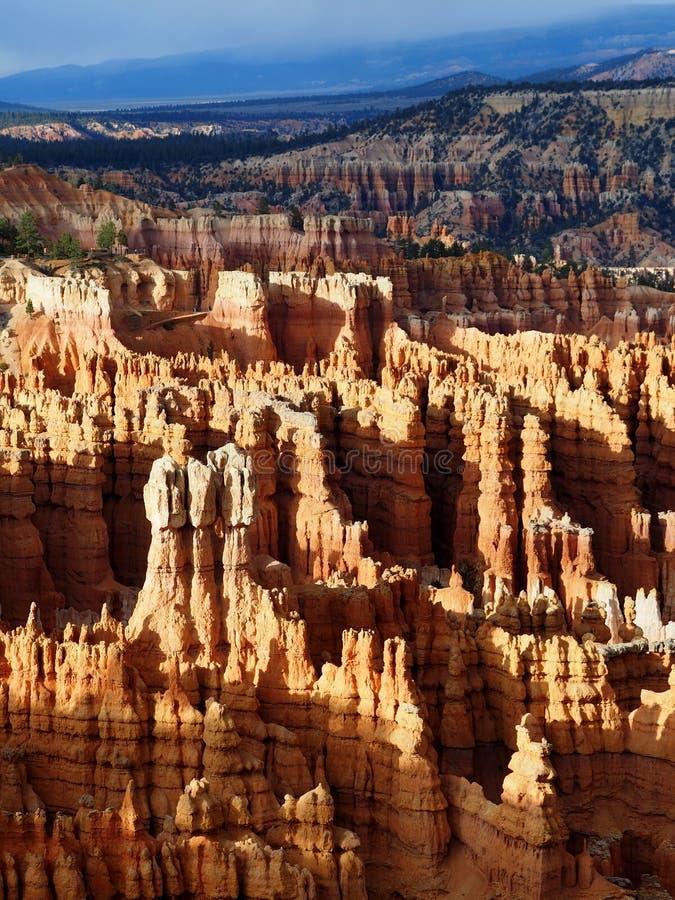 Bryce Canyon Hoodoos bij Zonsondergang stock foto