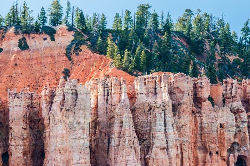 Bryce Canyon Hoodoos-close-up achtergrondpatroon stock afbeeldingen