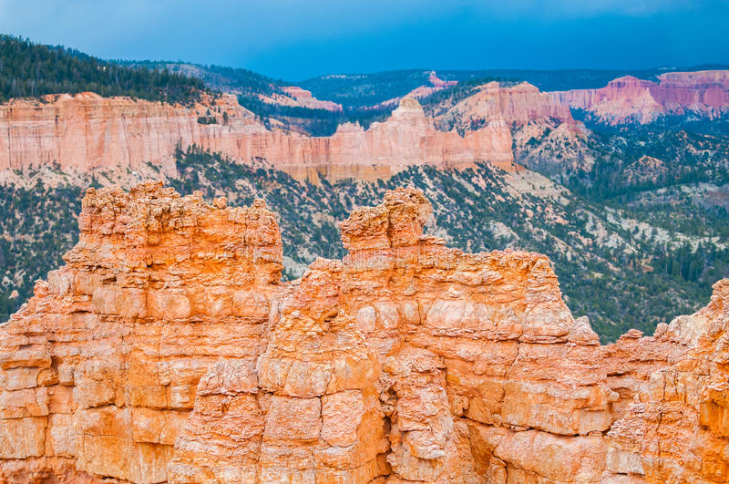 Bryce Canyon Hoodoos-close-up achtergrondpatroon stock foto