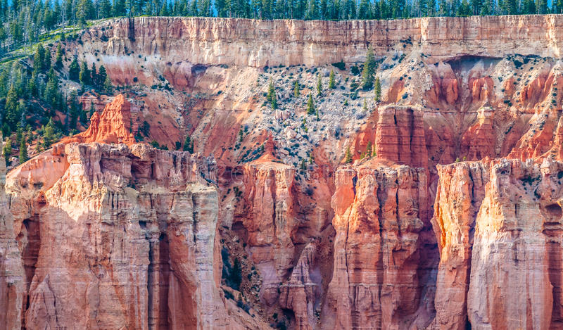 Bryce Canyon Hoodoos-close-up achtergrondpatroon royalty-vrije stock foto
