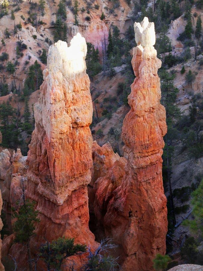 Bryce Canyon Hoodoos Closeup royalty-vrije stock foto's