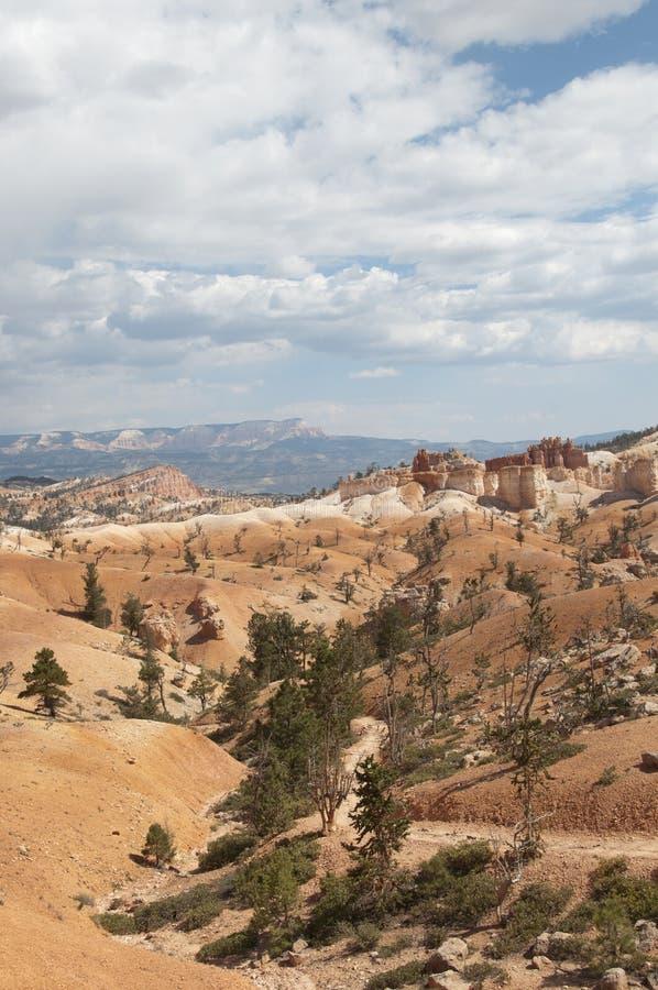 Bryce Canyon Hoodoos Desert Landscape mit Bäumen stockbilder