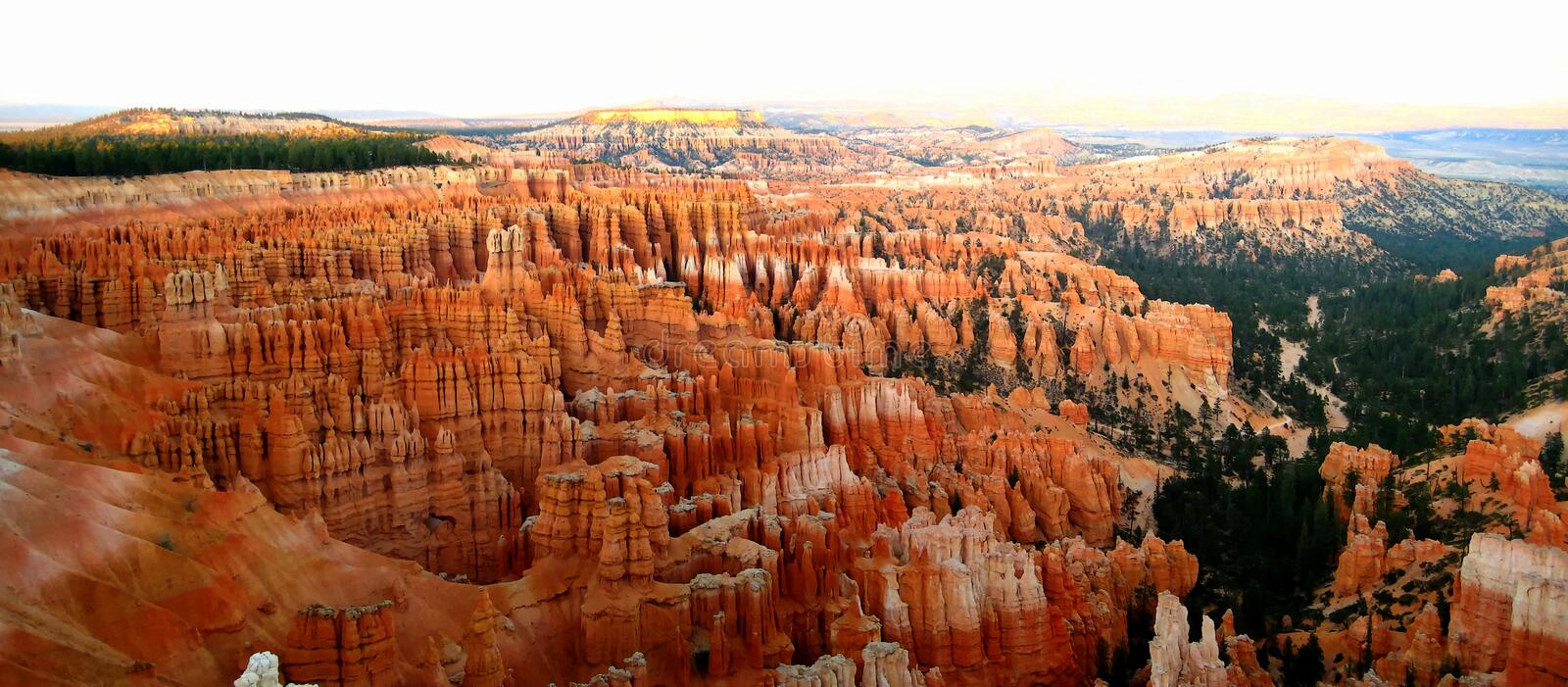 Bryce Canyon inspirationpunkt royaltyfria bilder
