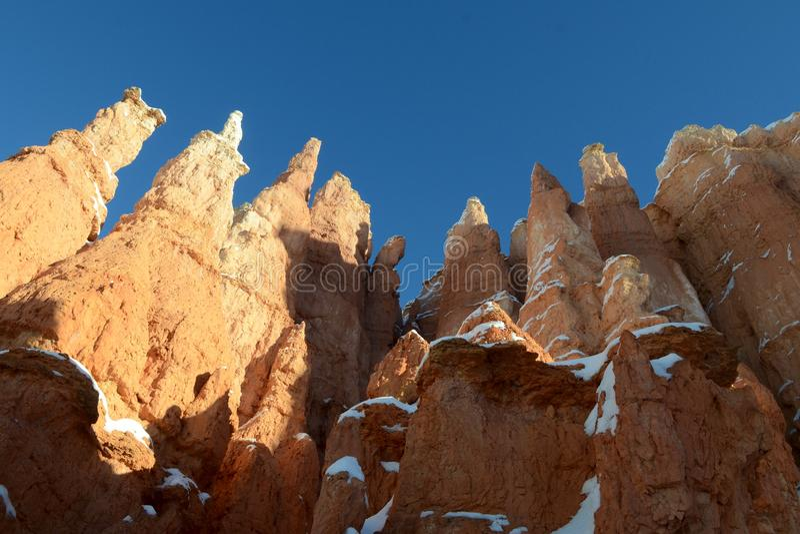 Bryce Canyon Jagged Hoodoos royalty-vrije stock fotografie